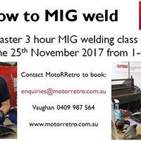 MotoRRetro Introduction to MIG Welding Class