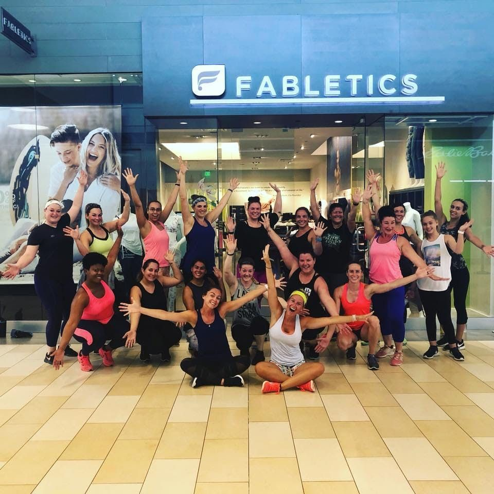 Fabletics Free Workout Sweat and Shop