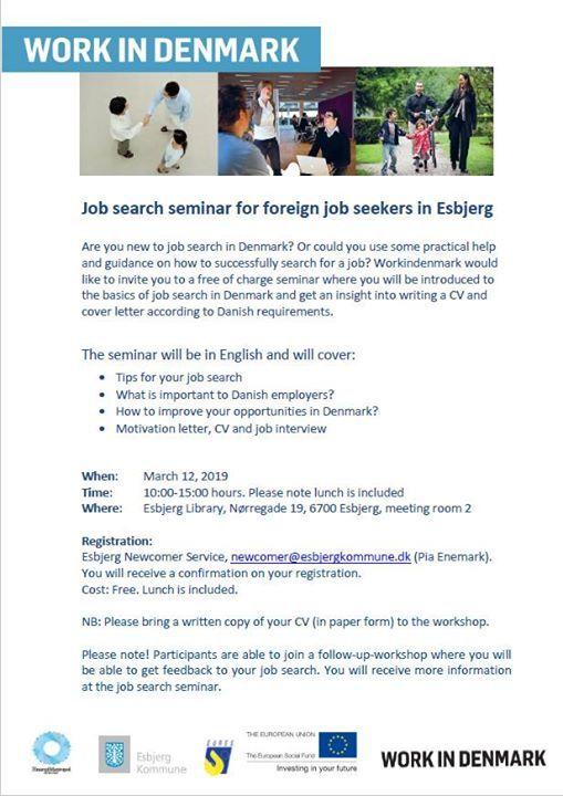 Job search seminar by WorkinDenmark