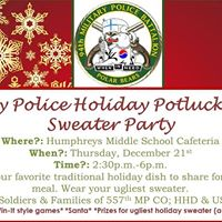 Military Police Holiday Potluck &amp Ugly Sweater Party