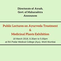Public Lectures on Ayurveda Treatment &amp Medicinal Plants Exhbh.