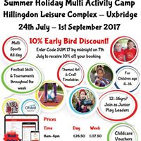 Summer Holiday Multi Activity Camp in Hillingdon