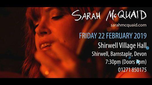 Sarah McQuaid - Shirwell Village Hall