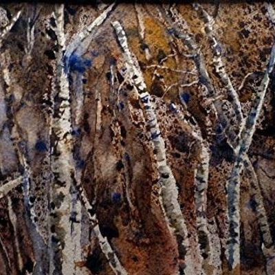 Birch Trees Working with a Palette Knife in Watercolor with Kevin Kuhne