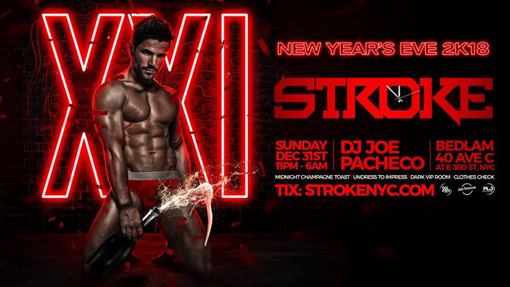 Stroke at midnight New Years Eve 2K18