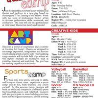 Art Camp Theater Camp Sports Camp