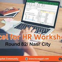 Excel For HR Round 82 Nasr City