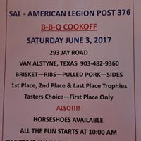 11th Annual Sons of the American Legion BBQ Cook Off
