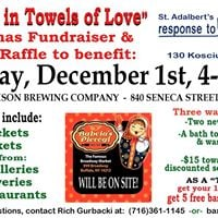 Wrapped in Towels of Love Towel Drive at Flying Bison