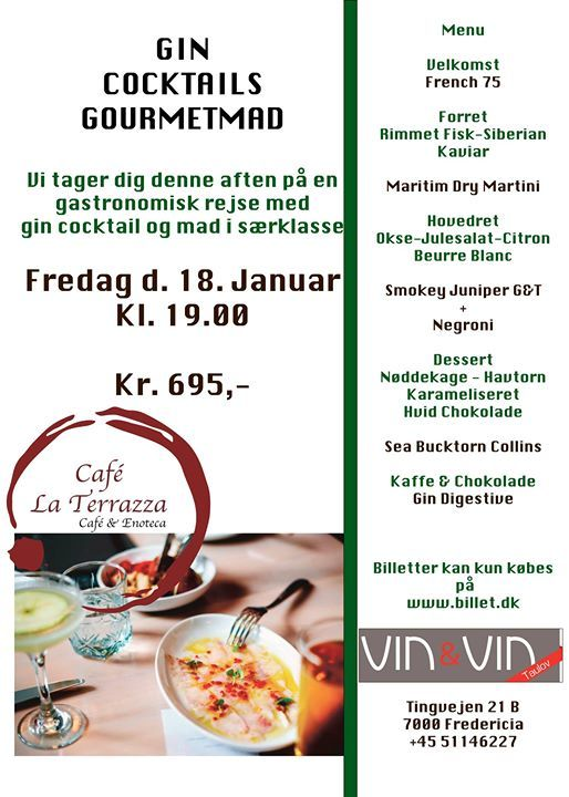 Gin Cocktails Gourmetmad At Vin Vin Taulov Fredericia