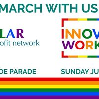 March with Pillar and the InnoFam at London Pride Parade