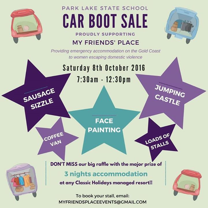 Car Boot Sale in support of My Friends Place