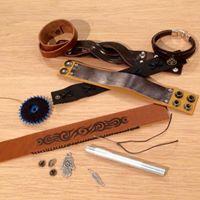 Workshop maak je eigen leren armband Moederdochter editie