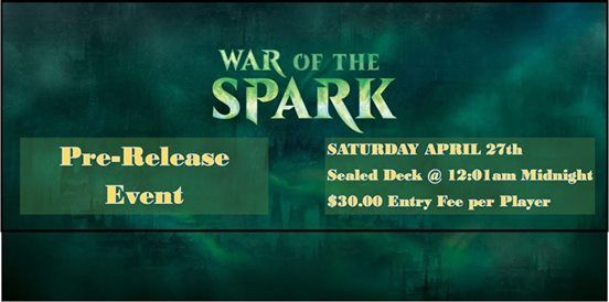 Magic the Gathering War of the Spark Prerelease Event at