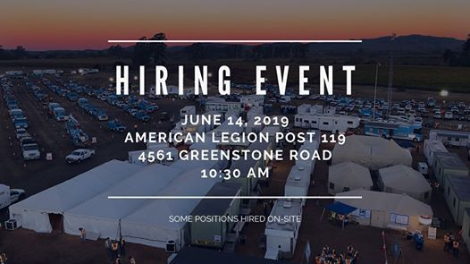 Annual Hiring Event at American Legion Post 119, Placerville