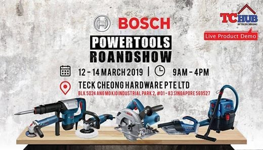 Bosch Power Tools Roadshow 12 - 14 March 2019