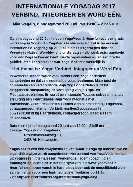 Gratis kennismakingsworkshop Raja Yoga