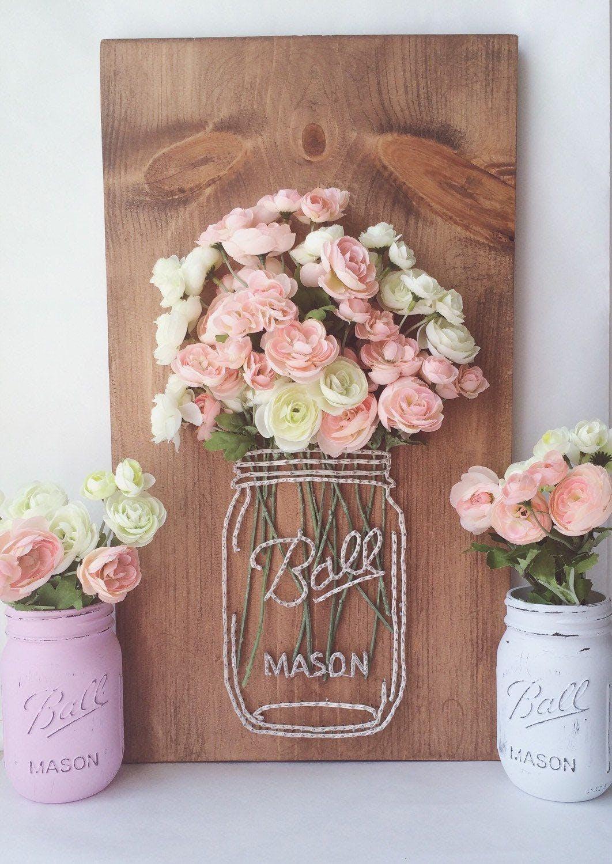 Mason Jar Flowers String Art At Oopsie Daisy Childrens
