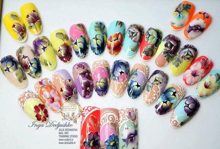 Nail Art Seminar In London Zhostovo Painting Inga Dedjuko At