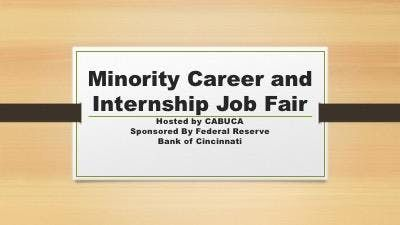 Minority Career and Internship Fair Hosted by CABUCA