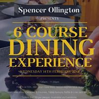 Spencer Ollington presents a 6 Course Dining Experience