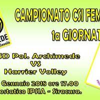 Campionato Femminile CSI ASD Archimede Priolo - Harrier Volley