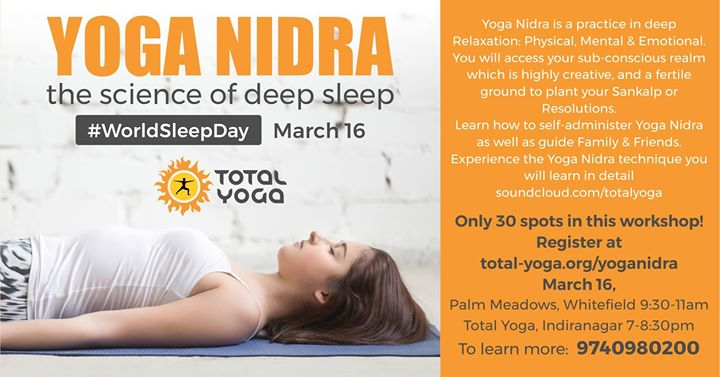 WorldSleepDay YOGA NIDRA Workshop