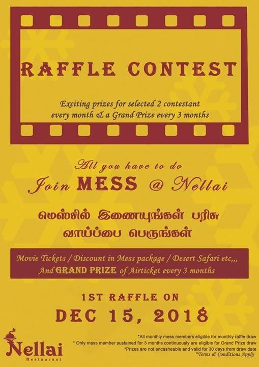 Raffle Draw - Mess Members at Nellai Restaurant - Ajman நெல்லை