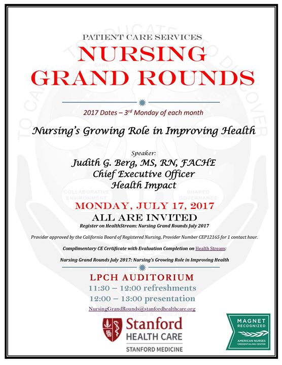 Nursing Grand Rounds at Stanford Children's Health - Lucile