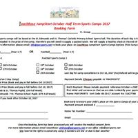 CoachRose October Half-Term Jumpstart Sports Camp 2017