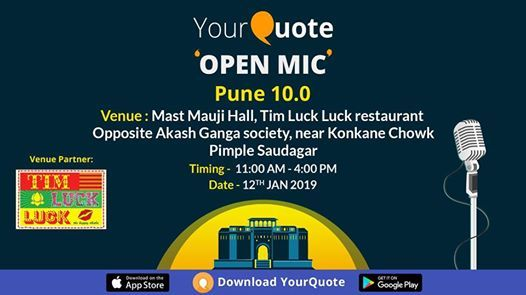 YourQuote Open Mic Pune 10.0
