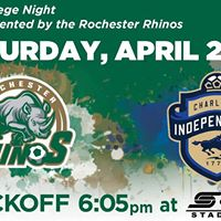 Rochester Rhinos vs. Charlotte Independence (College Night)