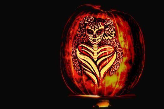 Dia De Los Muertos Dance Pumpkin Carving