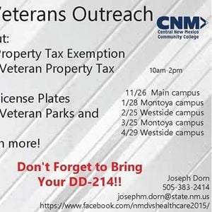 Cnm Montoya Campus Veterans Outreach Mexico
