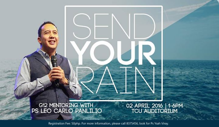 Send your rain : g12 mentoring at taguig city university auditorium