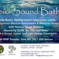 Reiki Sound Bath Singing Bowls Healing Colour Underwater Light