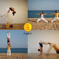 Yoga y acrobacia en parejas