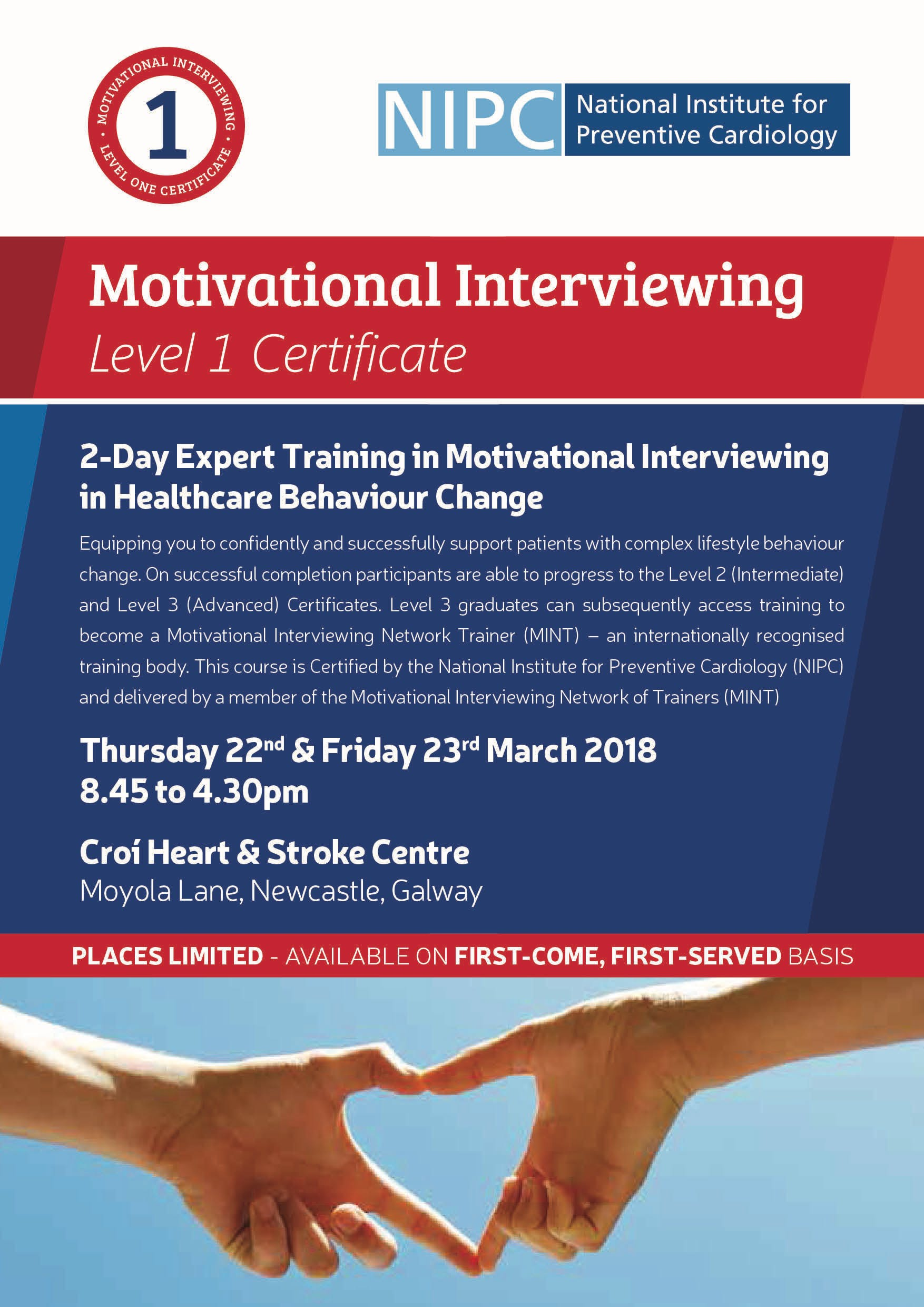 Motivational Interviewing Level 1 Certificate 20th 21st September