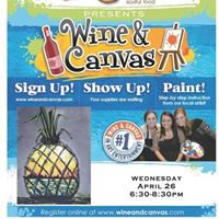 The Glass Onion Hosts a Wine &amp Canvas Class on April 26