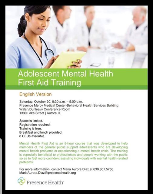 Adolescent Mental Health Training
