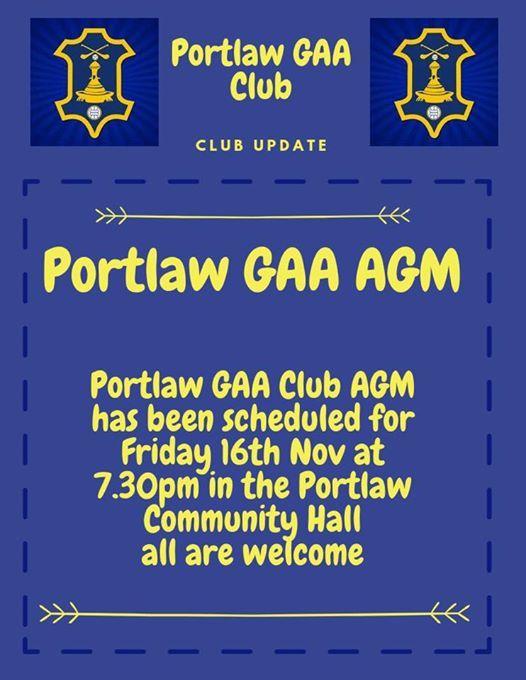 Portlaw GAA Club AGM