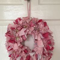 PinkPlum Rag Wreath Evening Class with Light Tea &amp Fizz