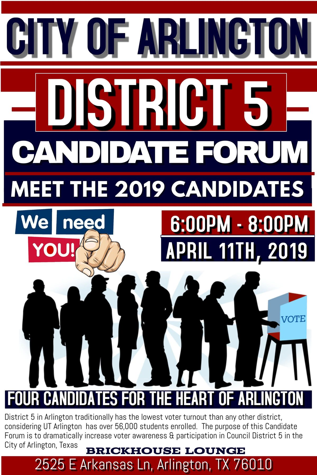 City of Arlington District 5 Candidate Forum