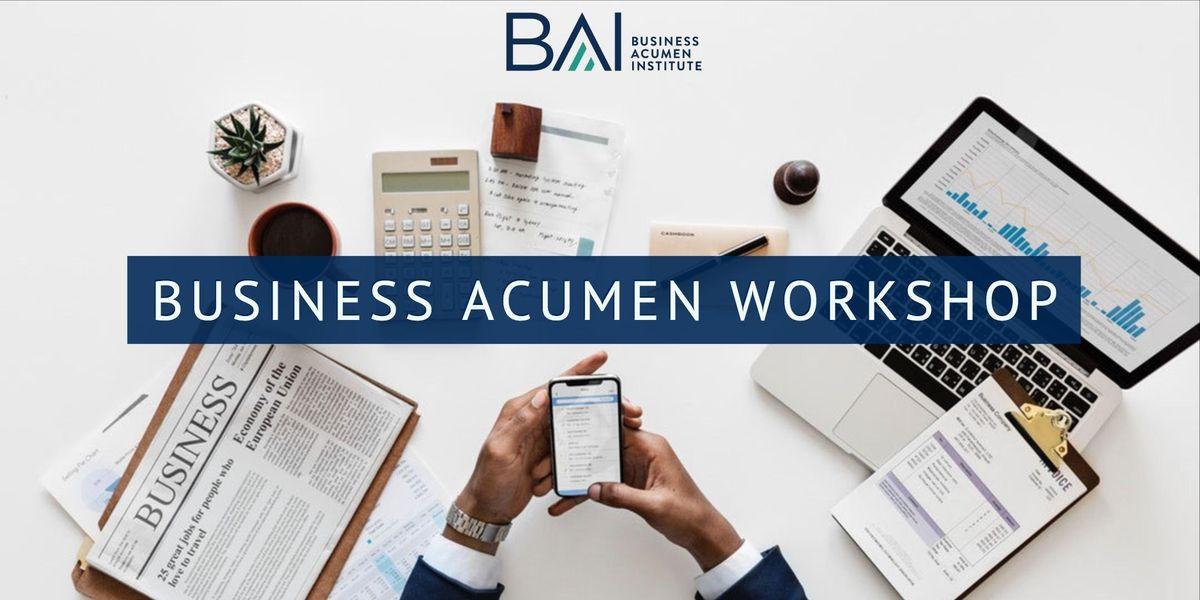 Business Acumen Public Workshop - March 2019