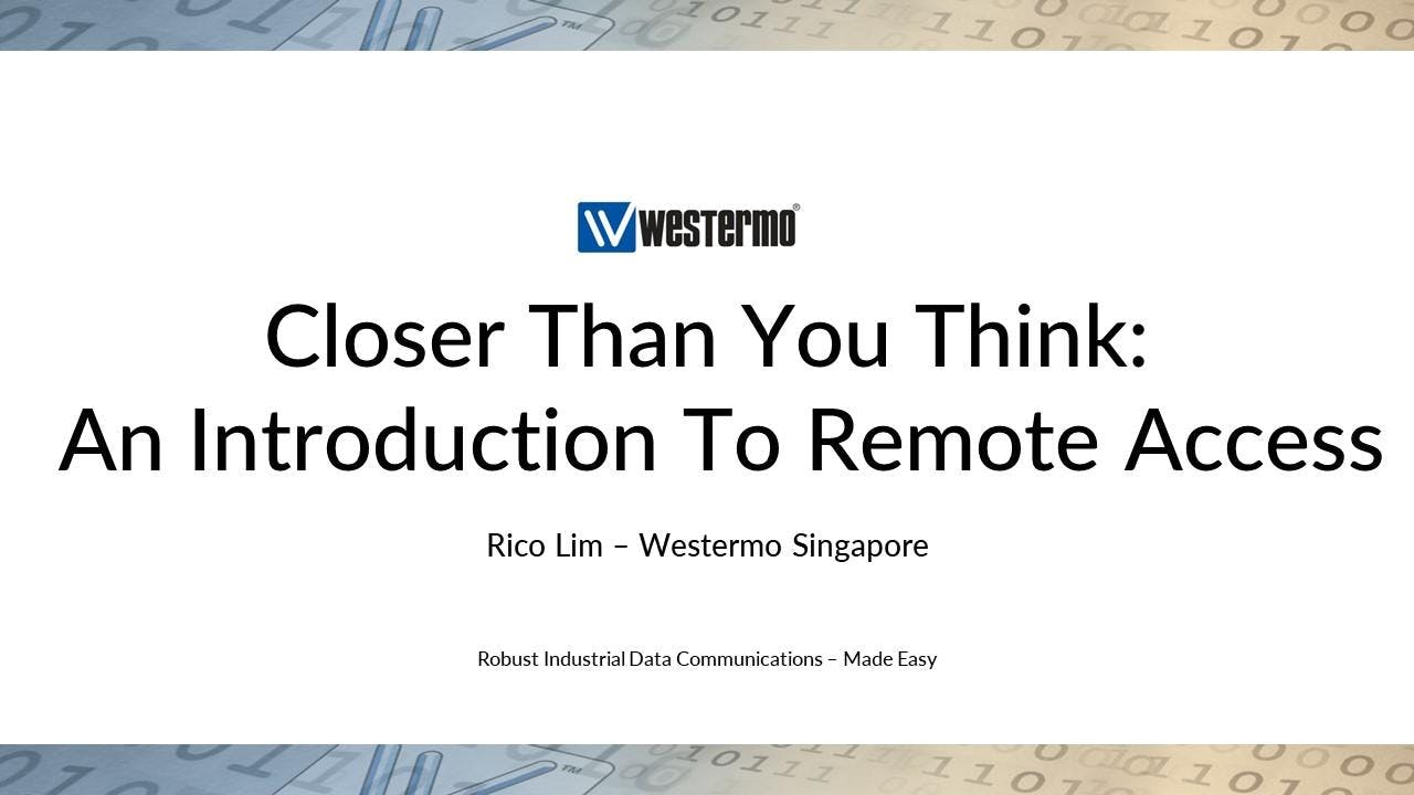 Closer Than You Think: An Introduction To Remote Access at