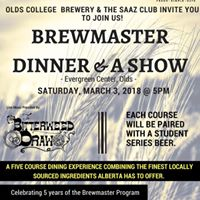 Olds College Brewmaster Dinner And A Show