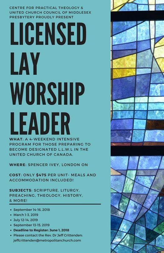 Licensed Lay Worship Leader Program at Ivey Spencer