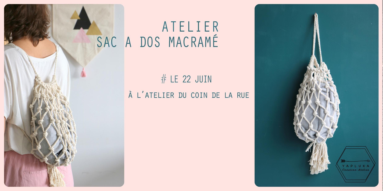 Atelier à Montréal dos macramé Sac ww5Zrqg