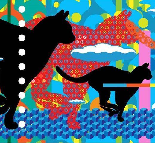 Alley Cats Mural by John Van Hamersveld