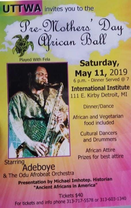Pre-Mothers Day African Ball at International Institute of